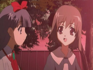 Chibi Aya and Sayaka become friends