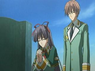 Ryota and Sayaka visit Sayaka's father...
